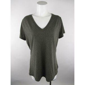 Mossimo Supply Co Heather V-Neck Short T-Shirt Top